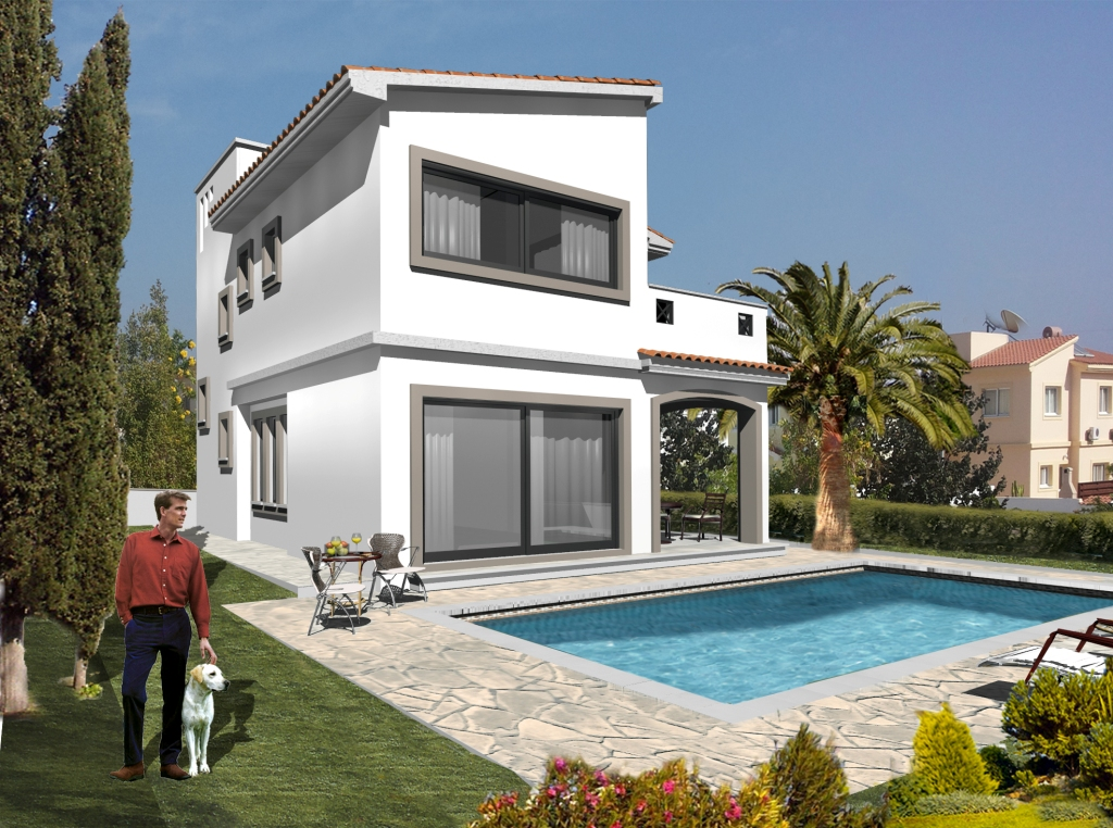 3 Bed Villas – Peyia  – Under construction – D0326
