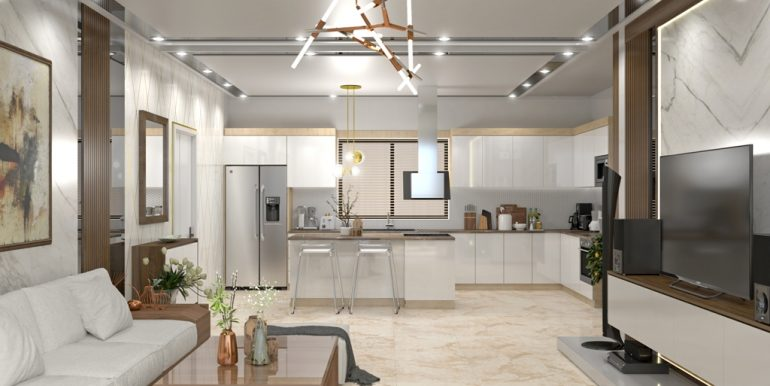 QUALITY HOMES - UNIVERSAL - 20191127 - INTERIOR 03 - LIVING ROOM AND KITCHEN