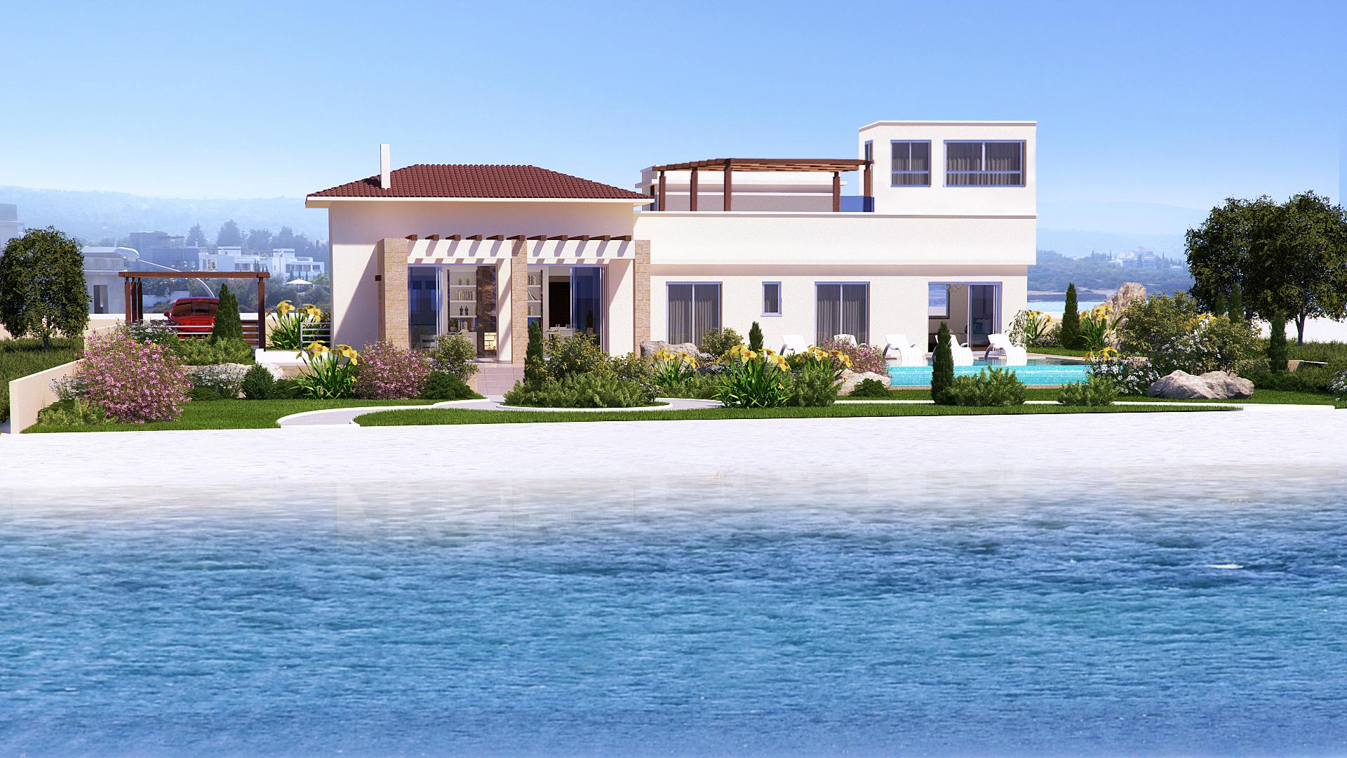 3 Bed front line Beach villa – Latchi