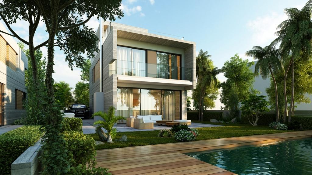 Modern villas near the sea in Paphos